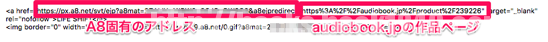 A8 net メディア会員管理画面 商品リンク生成