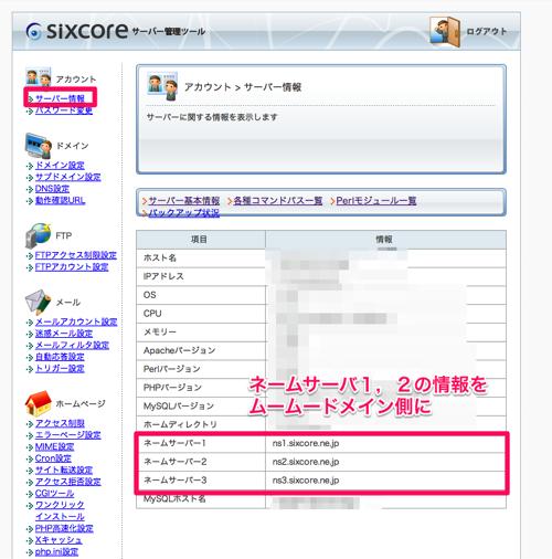 Sixcore サーバー管理ツール