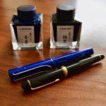 もう染料インクには戻れない。「#3776 CENTURY & 極黒」と「ALSTER & 青墨」で顔料インク万年筆ライフ満喫中。