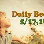 晴れた休日はテラスで男子ごはんごっこー Daily Beck 5/17,18号